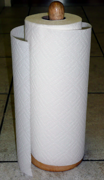 Mounds and mounds of paper towels going into the landfill...but you can stop it by switching to reusable paperless towels!