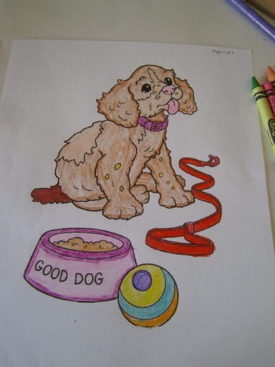 Another of my Puppy Coloring pages