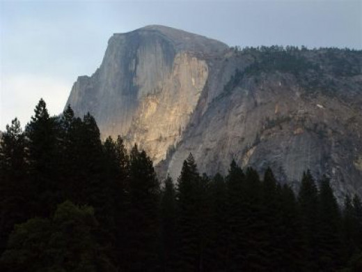 The famed granite walls of Yosemite National Park John Muir helped rescue