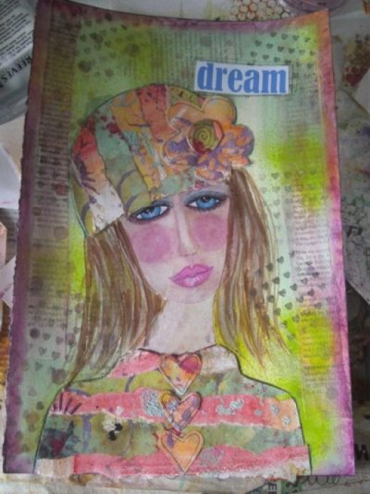 """""""DREAM"""" Art Journal page by Di MCDonald"""