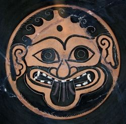 """Gorgoneion"" Head of Medusa on a Greek Vase"