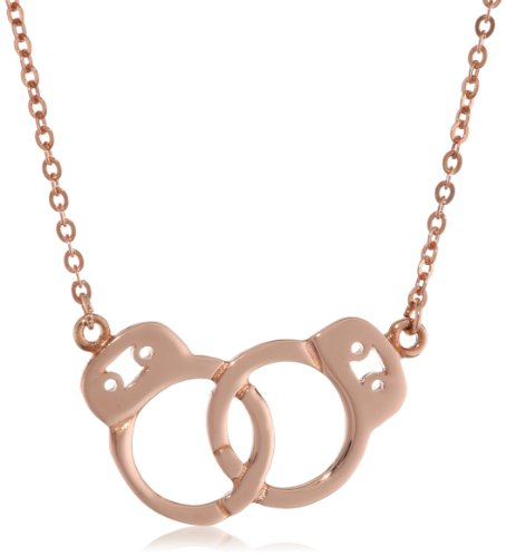 This delicate rose gold handcuff necklace is dainty and ladylike.