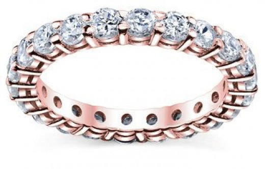 Rose gold is the hottest trend. Add some interest to your ring finger with this beauty!