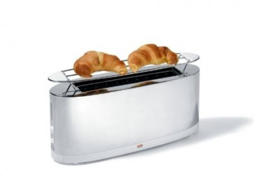 The Alessi Toaster is perfect for heating croissants in your contemporary kitchen