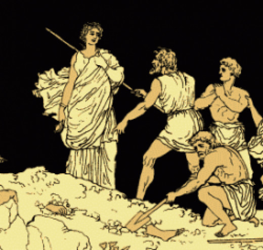 Antigone from an old, out-of-copyright edition of the play