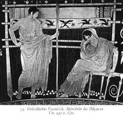 """Telemachus and Penelope from Carl Kohler's """"A History of Costume"""""""
