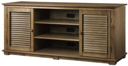 """Shutter Tv Stand, 59""""WX26""""H in WEATHERED OAK"""