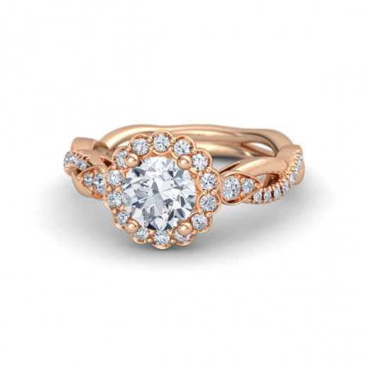 Gemvara Lucinda Floral inspired engagement ring