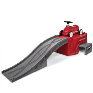 This Radio Flyer with track is a perennial toddler favorite. Pull it out for play dates and birthday parties and your house will be the favorite place to play!