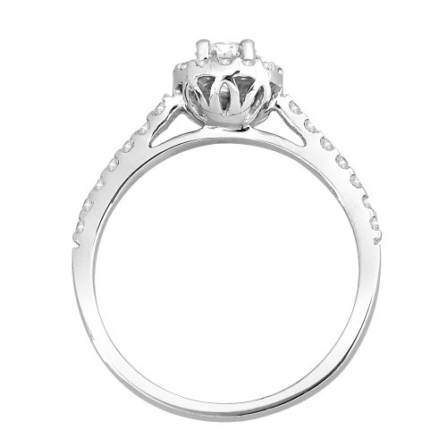 Amazon Curated Collection halo engagement ring