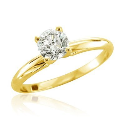 A yellow gold round solitaire is an iconic, classic style that will endure.