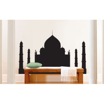 A large wall sticker like this Taj Mahal can give your room a sense of place. I would pick sky blue for a calming, gender neutral nursery.