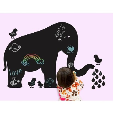 Chalkboard wall decals provide hours of fun for toddlers and older kids.