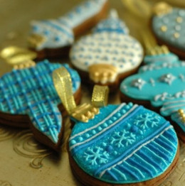 Blue Accent Cookies