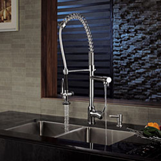 Krauss two spout commercial style faucet for less