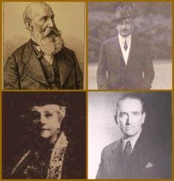 L to R: Johann Meyer - Ludwig Adolph von Meyer - Georgianna von Meyer nee Ives - Alexander von Meyer