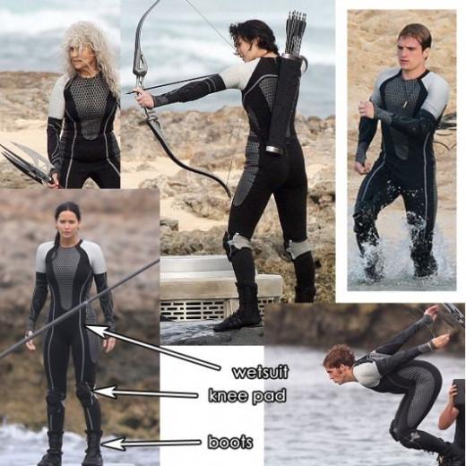 Catching Fire Battle Costume Wet Suit