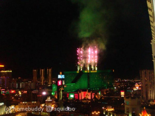 New Year Fireworks at the MGM