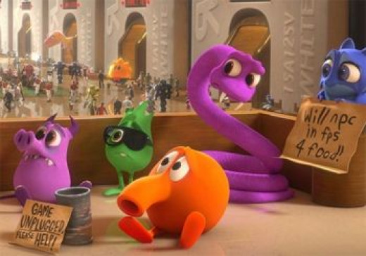 """Q*bert and his gang on """"Wreck-It Ralph"""""""
