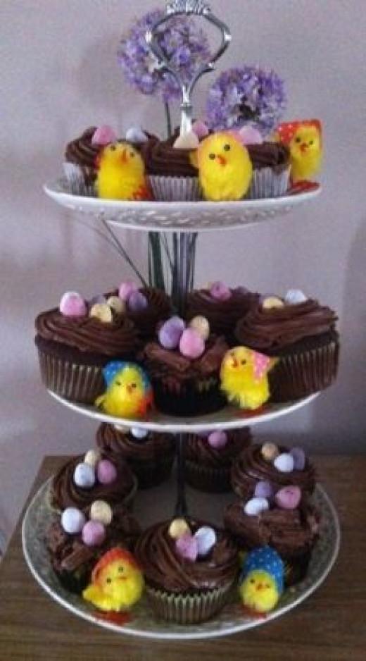 Bird Nest Cupcakes - copyright of the author