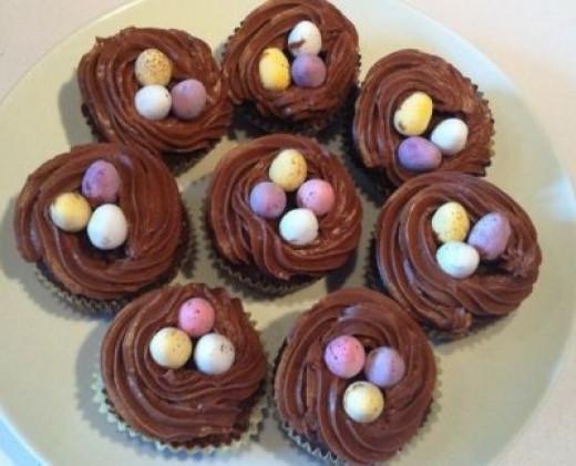 Easy Bird Nest Cupcakes Recipe - image copyright of the author