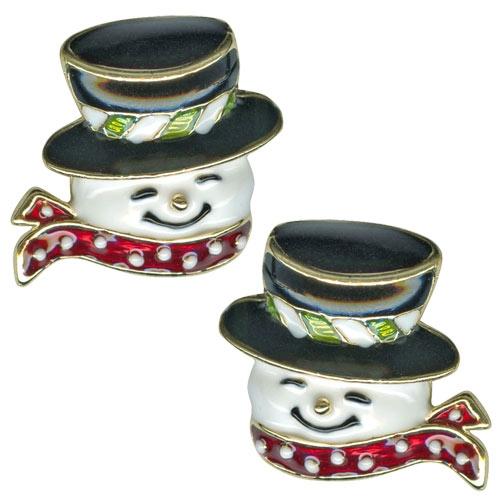 Kirks Folly Frosty's Wishes Snowman Earrings
