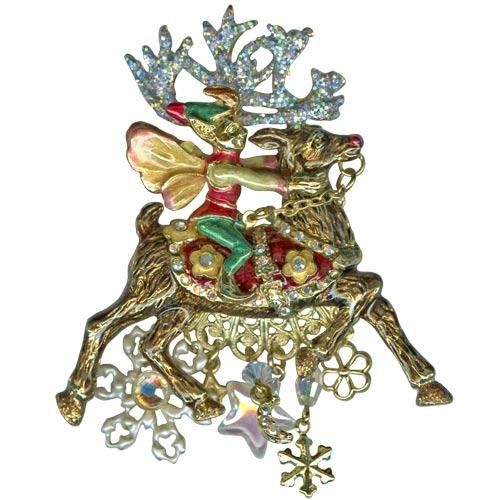 Kirks Folly Reindeer Rider Pin