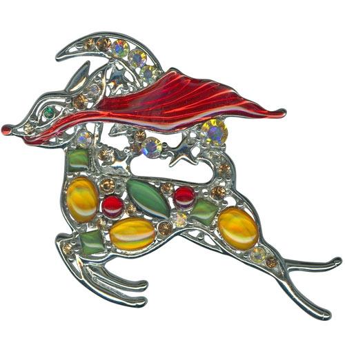 Kirks Folly Rudolph's Starry Night Pin