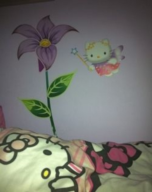 Hello Kitty Bedroom Wall Decal - image copyright of the author