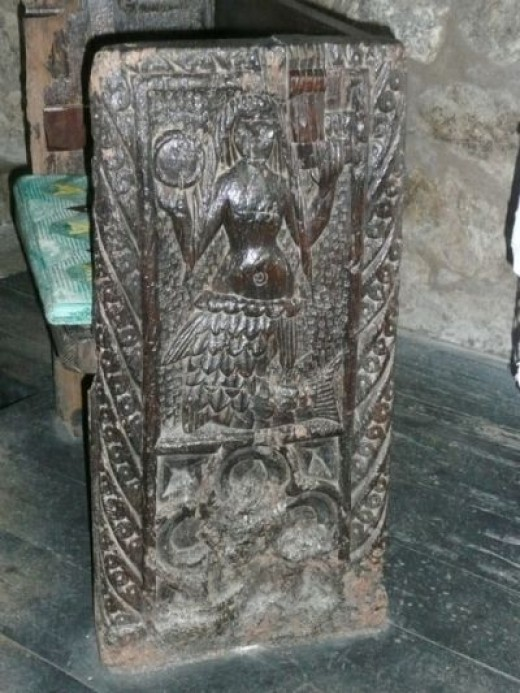 The Mermaid Chair of Zennor - the 600-year-old original carved bench end