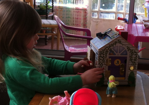 Playing with the Doorbell House