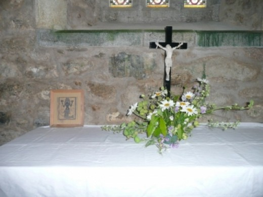 Even a small altar in St Senara's Church features the Zennor mermaid!