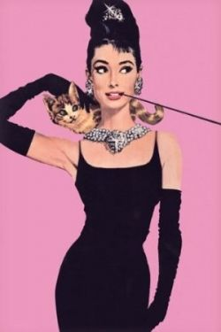 Breakfast at Tiffany's Pink Poster