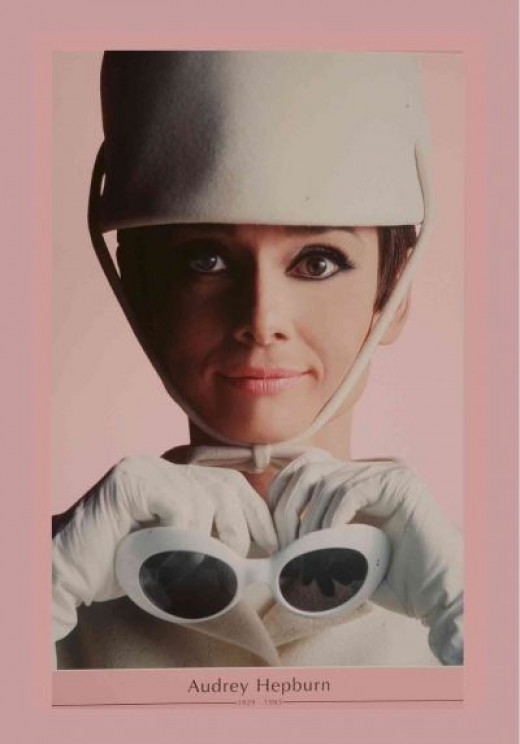 Audrey Hepburn Pink Movie Poster