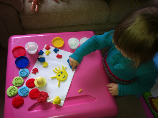 When Pud turned 2, she got really into Play Doh...