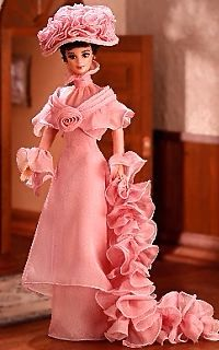 Audrey Hepburn Pink Barbie Doll