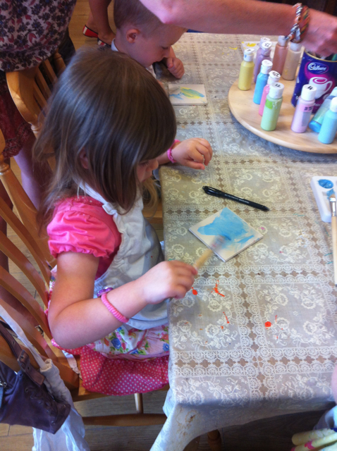 ...and Pud got into painting ceramics, too!