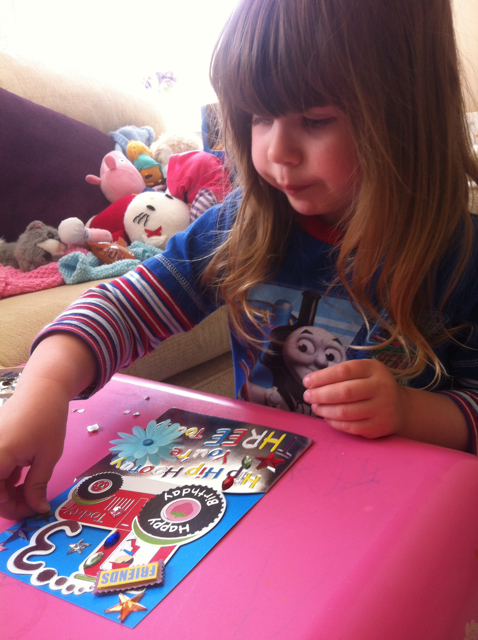 Pud now loves making and customizing cards for her friends...