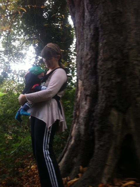 Me and Bean on an adventure in the woods - photograph taken by my daughter, aged 3!