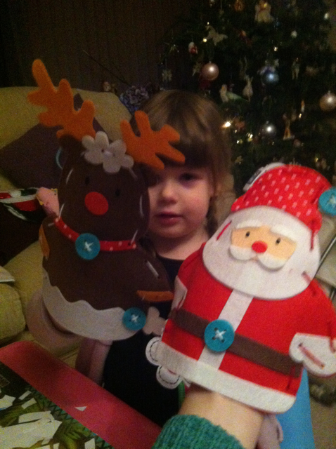 ...to making Christmas puppets!
