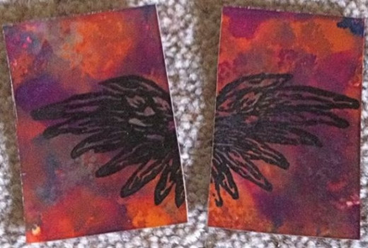 Altered Art Cards - copyright of author