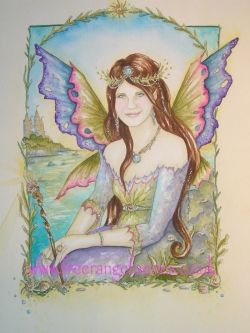 Faerie Portrait by Kate Monkman