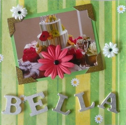 Bella's Birthday Cake Twilight Scrapbook Page. Copyright of the author