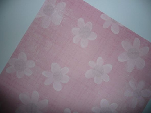 12x12 pink scrapbook paper, preferably with daisies on