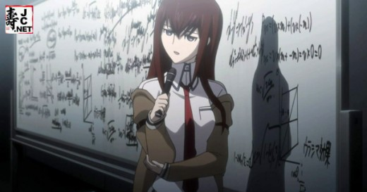 Genius and time-travel skeptic, Kurisu Makise, finds herself an unexpected participant in Okabe's successful microwave time machine.