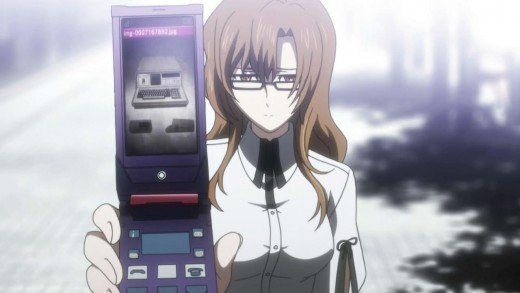 Moeka Kiryu can be summed up as awkward. Shy to the point of relying on her phone, she is searching for the same equipment as Okabe's lab.