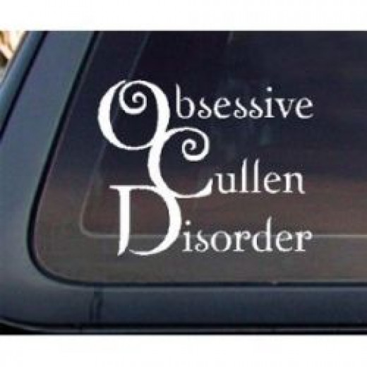 Twilight Obsessive Cullen Disorder Car Sticker Decal