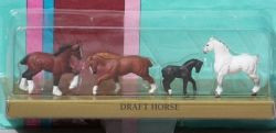 Micro Mini Creata Draft Horse Set. Picture used with permission from Candace Liddy.