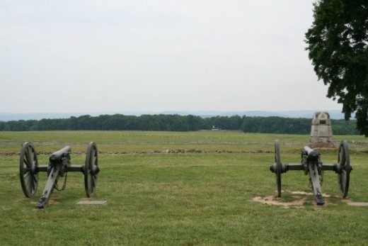 Civil War cannons. Photo by John Grunert and used with permission.