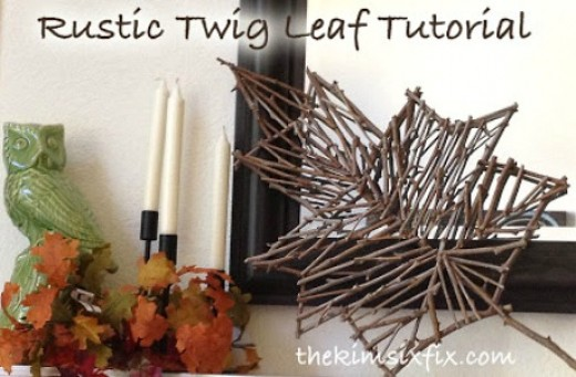 Twig Decor 41 rustic twig craft ideas | feltmagnet